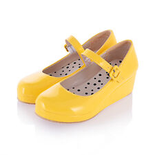 0352801e1d4 item 3 Womens Platform Wedge Heel Fashion Buckle Patent Sweet Mary Jane  Pumps Shoes 5-8 -Womens Platform Wedge Heel Fashion Buckle Patent Sweet Mary  Jane ...