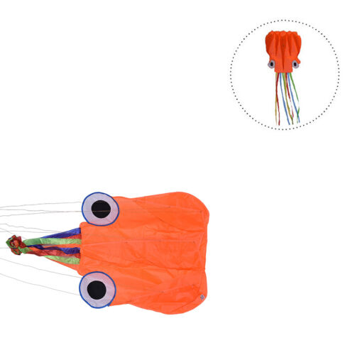 4M Single Line Stunt Red Octopus Power Sport Flying Kite Outdoor Activity Toy SD