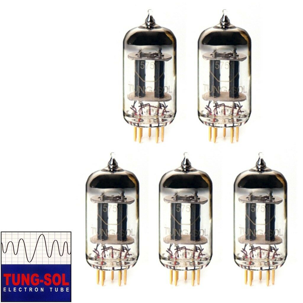 Neu Zugewinn Passender Quintet 5x Tung-Sol Reissue 5751 Gold Pin Vakuum Rohre