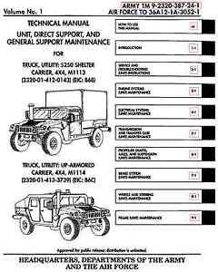 11 500 page m998 army hmmwv hummer humvee repair operator parts rh ebay com m1165a1 hmmwv technical manual hmmwv technical manual