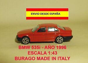BMW-535i-ESCALA-1-43-BURAGO-ITALY-ANO-1996-MINIATURAS-COCHES-MAQUETAS-DIORAMAS