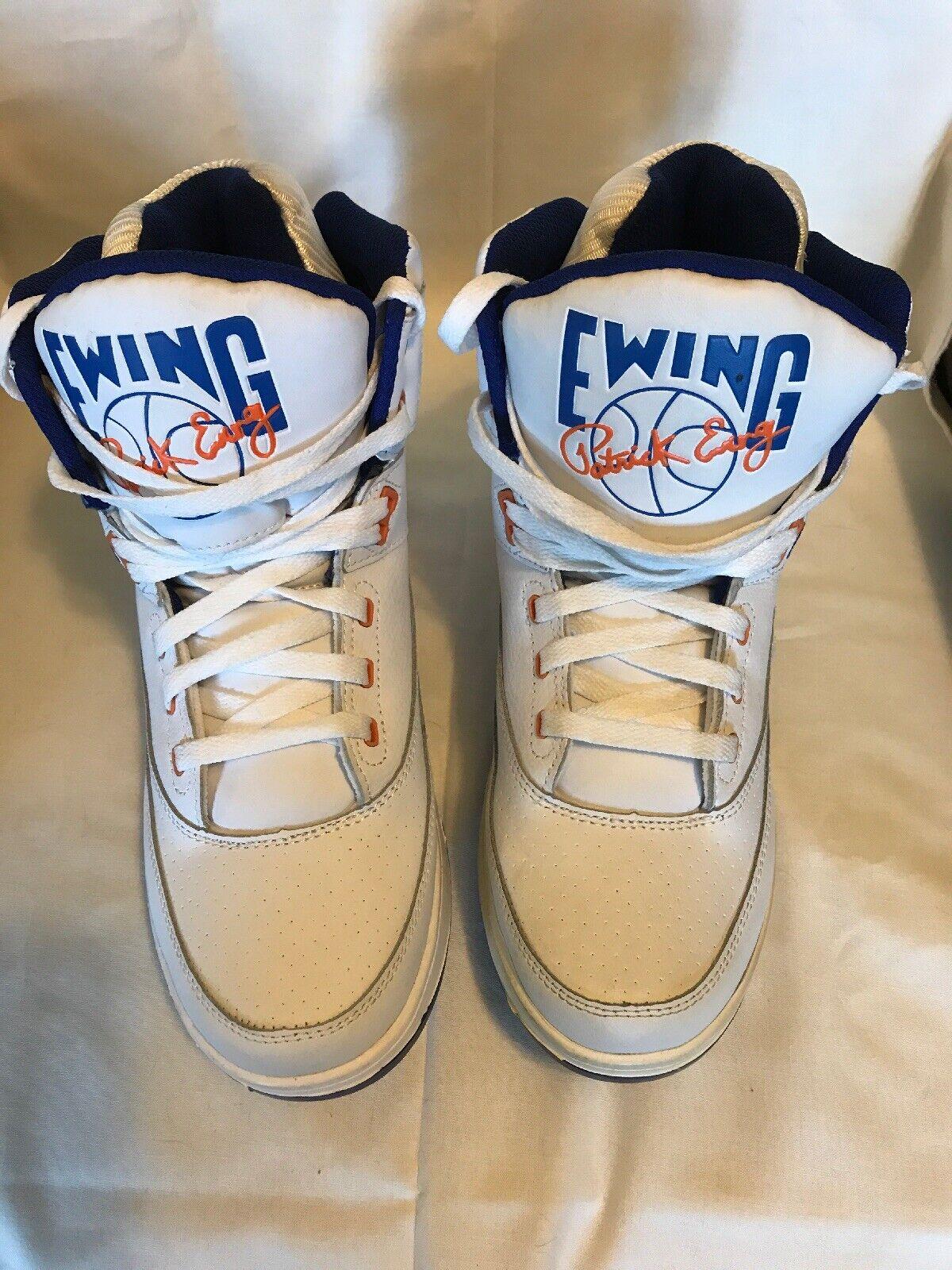 Patrick Ewing Athletics 33 Hi blancoo Azul Naranja Originales PE Zapatos 1EW90014-136