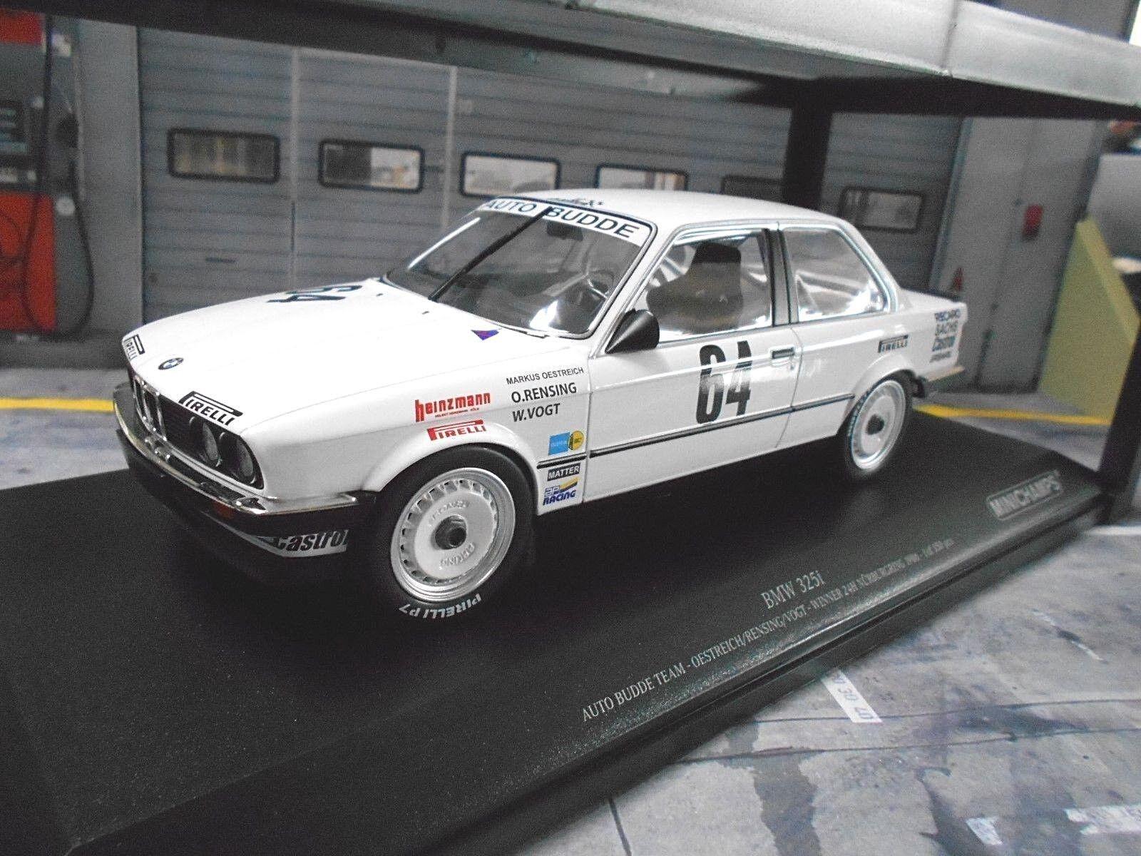 BMW 325i 3er E30 24h Nürburgring Sieger Budde Oestreich Vog 1986 Minichamps 1 18