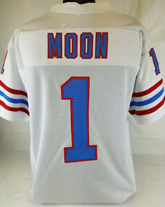 Image is loading Warren-Moon-Unsigned-Custom-Sewn-White-Football-Jersey- 284509859