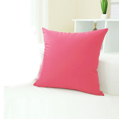 "New Candy Colors Simple Design Micro Suede Pillow Case Cushion Cover 19"" HOT"