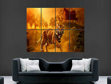 TIGER ASIAN JUNGLE SUNSET  GIANT WALL POSTER ART PICTURE PRINT LARGE HUGE