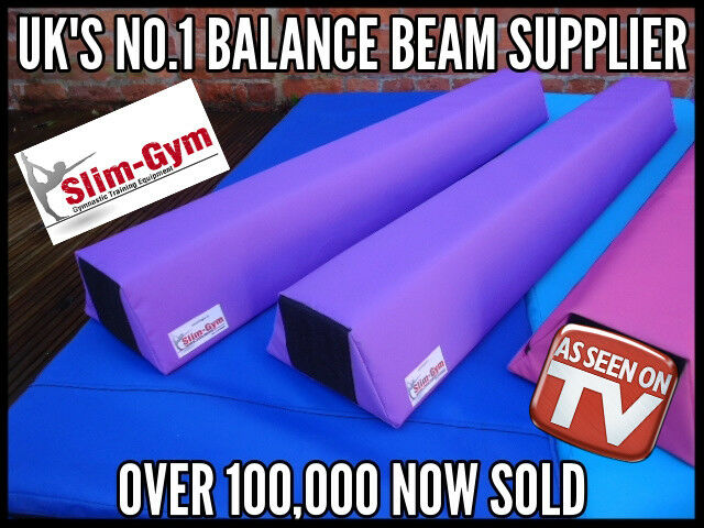 SLIM-GYM GYMNASTIC GYM FOAM TRAINING BALANCE BEAM 2 X 120CM 'PURPLE'