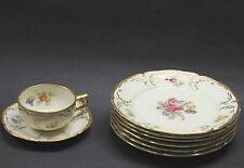 "6 Rosenthal Sanssouci Diplomat Floral 8"" Plates & 1 Cup & Saucer"