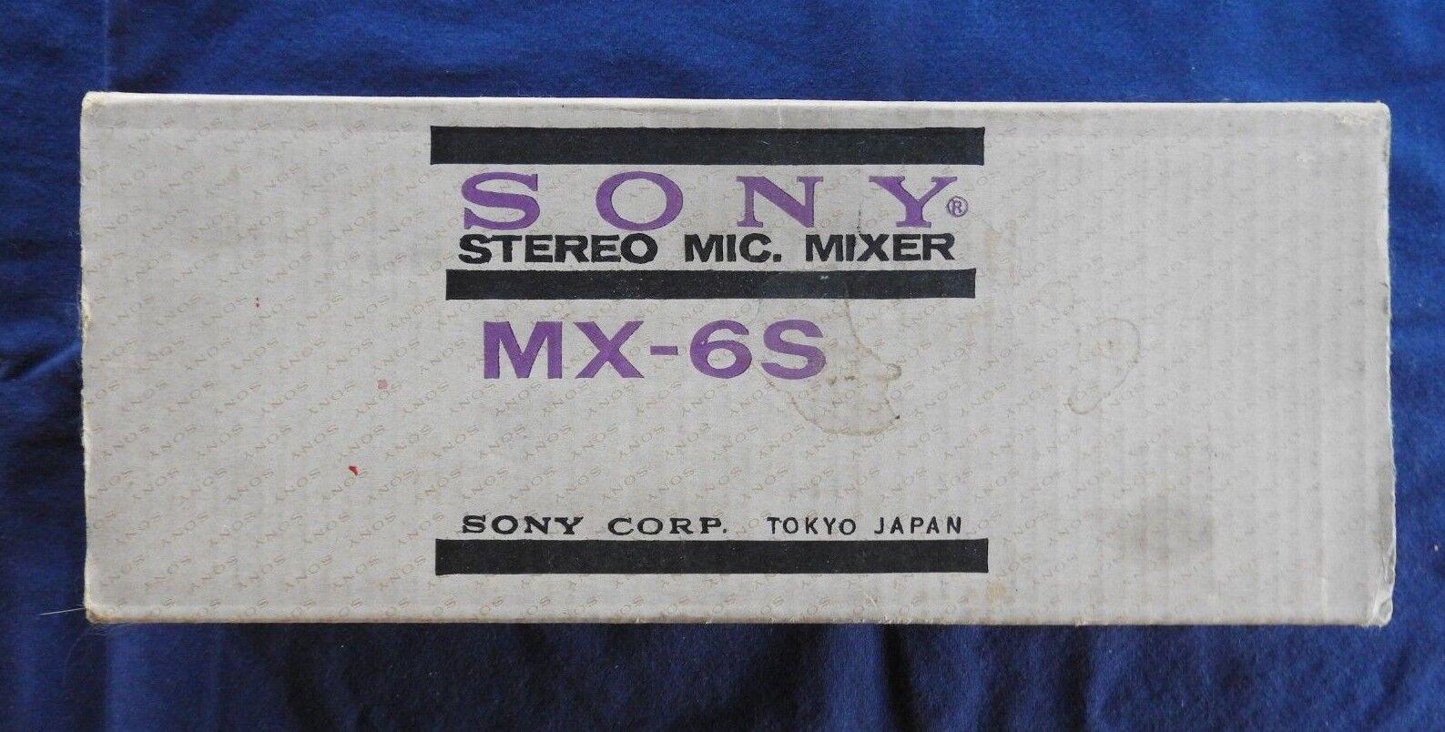 Sony MX-6S, Micrófono Estéreo Mezclador Vintage Unidad Nuevo en Caja Forma Libre