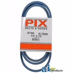 NEW PIX BELT PART # A74K 1//2 INCH x 76 INCH BLUE A-SECTION BELT