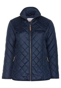 Details about Sheego Ladies Quilted Jacket Blue transition Blue Autumn Winter Cool Jacket Warm New show original title