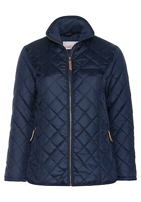 Jacket Autumn Winter Quilted Transition Warm Ladies NewEbay Sheego Blue Cool IeHYWD29E