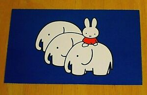 039-WITH-LOVE-FROM-MIFFY-039-POSTCARD-MIFFY-amp-THE-THREE-ELEPHANTS-DICK-BRUNA