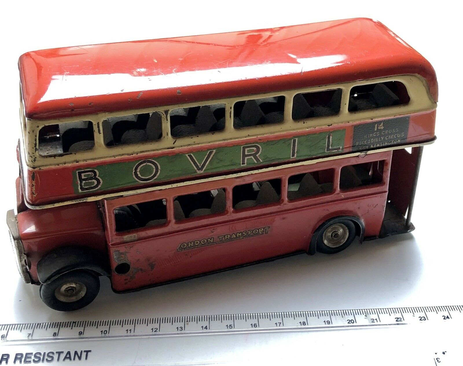 Vintage TRIANG Mini Double Decker London Transport Iconic rot Bus - Working Well