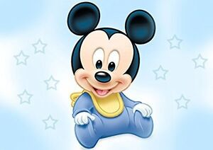 Baby Mickey Mouse Shower Edible Cake Topper Frosting 14 Sheet