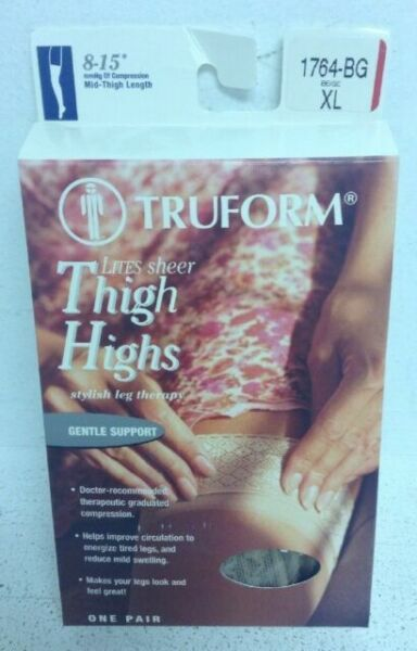 Truform Women/'s LITES 8-15 mmHg Compression Thigh High Support Stockings 1764