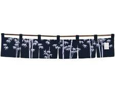 "Japanese Indigo Noren Curtain Tapestry 6-Panel Sushi Bar Bamboo/47""W/ Made Japan"
