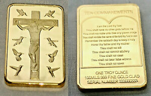 Jesus-Christ-10-Commandments-Gold-Bar-Crucifix-Easter-Birds-Prayer-Good-Friday
