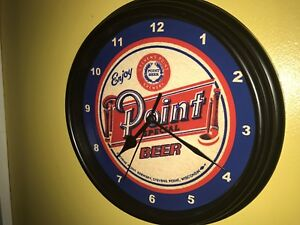 Sign Wisconsin Advertising Stevens Clock Cave Man Bar Point Wall Beer 5AwwqUz