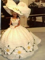 Crochet Fashion Doll Pattern-ics Designs-34 Southern Belle Daisies
