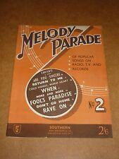 Melody Parade No.2 1958 song book(Kalin Twins/Most Brothers/Buddy HollyCrickets)