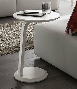 Tavolino rotondo salotto moderno pr gioia piccolo 1 gamba fianco divano alto ebay - Tavolino divano moderno ...