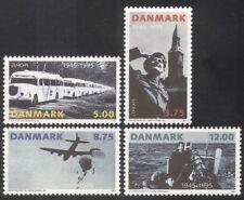 Dinamarca 1995 Europa/autobuses/Avión/paracaídas/Barco/La Paz/Libertad/transporte 4v n39073
