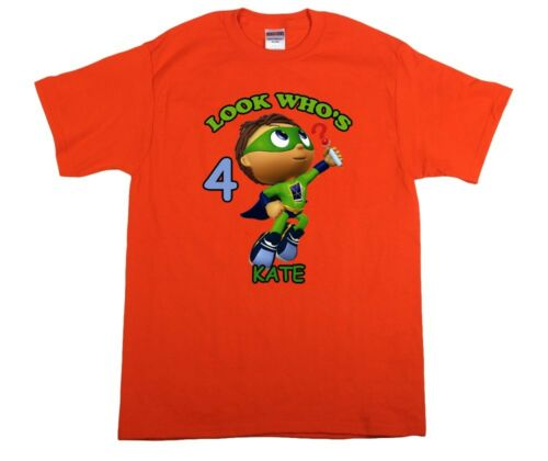 Super Why Personalized Custom Birthday Shirt in 8 Different Colors