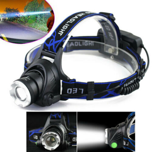Tactital Rechargeable 350000 Lumens LED Headlamp Head Torch Lamp Portable do