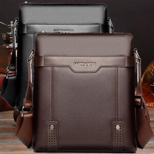 Men/'s Leather Messenger Bags Shoulder Bag Crossbody Handbag Briefcase Bag