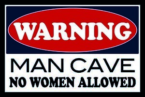 Warning-Man-Cave-No-Woman-Tin-Sign-Shield-Arched-Tin-Sign-20-x-30-cm-CC0952