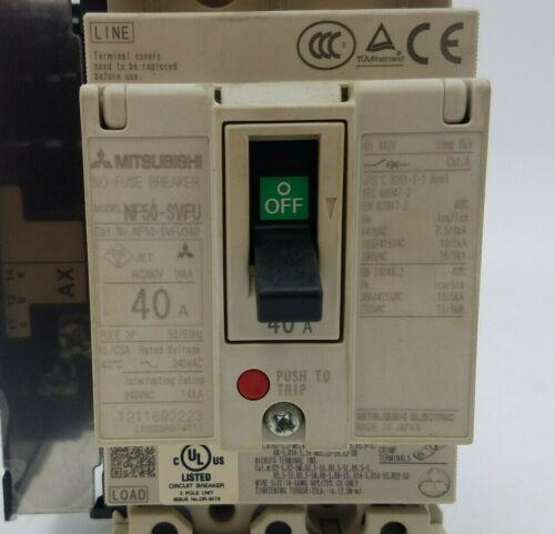 Mitsubishi NF50-SFVU340 No Fuse Circuit Breaker 3P 40A 240V NF50-SFVU 40 Amp
