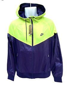 NIKE-Sportswear-NSW-Lightweight-Water-Repellent-Wind-RUNNER-Purple-amp-Lemmon-M