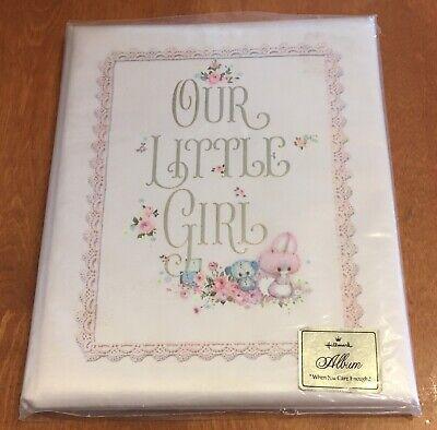 Vintage Hallmark Our Little Girl Baby Album Keepsake Book ...
