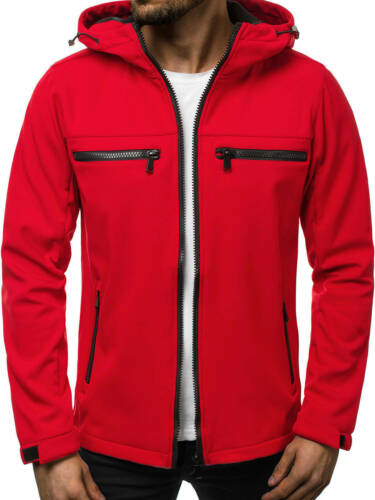 Transizione giacca bomber giacca Softshell Giacca Vento Cappuccio Uomo OZONEE js//56003