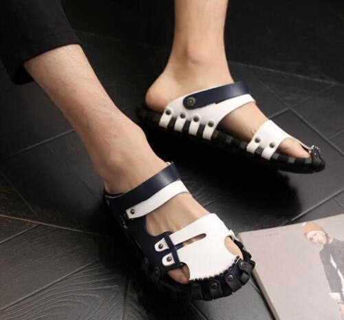 Men/'s Summer PU Leather Sandals Casual Non-slip Beach Roman Slipper Shoes New