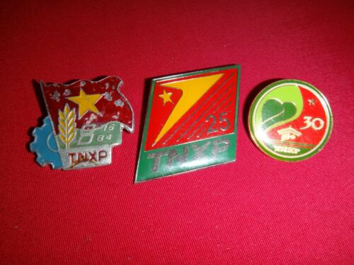 3 VC Metal Badges TNXP THANH NIEN XUNG PHONG Youth Volunteers From Vietnam