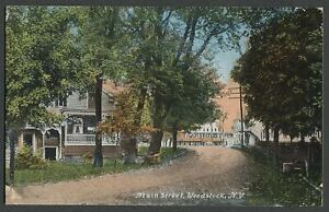 Woodstock-Ulster-Co-NY-c-1908-10-Postcard-MAIN-ST-Looking-towards-Square