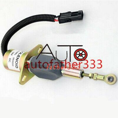 Shut Off Shutdown Solenoid 3930233 For Diesel 12V Cummins 6BT 5.9L /& 6CT 8.3L