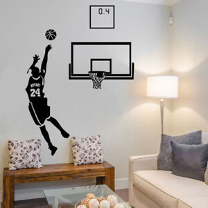Brilliant Details About Basketball Player Kobe Bryant Shoot Wall Sticker Boys Girls Bedroom Sports Decal Download Free Architecture Designs Barepgrimeyleaguecom
