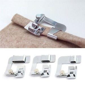 Silver-Rolled-Hem-Foot-Set-4-8-034-6-8-034-8-8-034-Domestic-Sewing-Machine-Hemmer-Presser