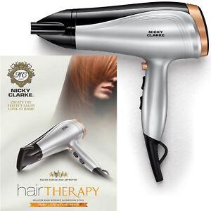 Nicky-Clarke-Hair-Therapy-Lightweight-Women-039-s-Dryer-DC-2500W-Ceramic-Tourmaline