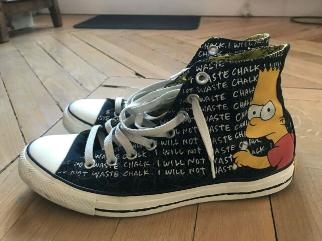 Converse All Star Simpsons Bart EUR 42.5 US 9 UK 9 Chucks Limited Edition 42,5