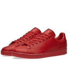 NIB ADIDAS Mens 8 STAN SMITH ADICOLOR S80248 RED LIFESTYLE CASUAL SHOES $85