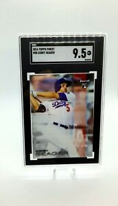 2016 Topps Finest Corey Seager Rookie SGC 9.5 MINT+ #58 Dodgers