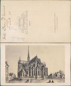 Morier-France-Amien-Notre-Dame-Vintage-CDV-albumen-carte-de-visite-d-amp-039
