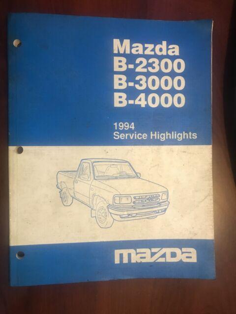 1994 Mazda Oem B2300 B3000 B4000 Truck Shop Service