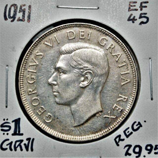 1951 Canada Silver One Dollar