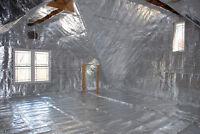 1000 Sqft Low-e Reflective Foam Core 1/4 Inch Insulation Housewrap Barrier Perf