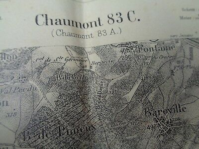 Map Of France Ww1.Ww1 German Army Map Of France Chaumont Very Early Ww1 Map Ebay
